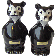 Souvenir Black Bear Salt & Pepper Shakers