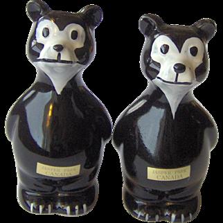 Souvenir Black Bear Salt & Pepper Shakers