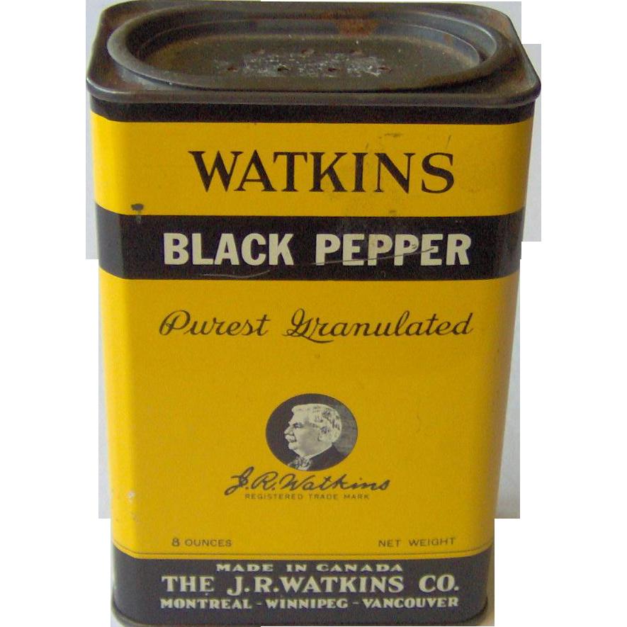 J. R. Watkins Black Pepper tin