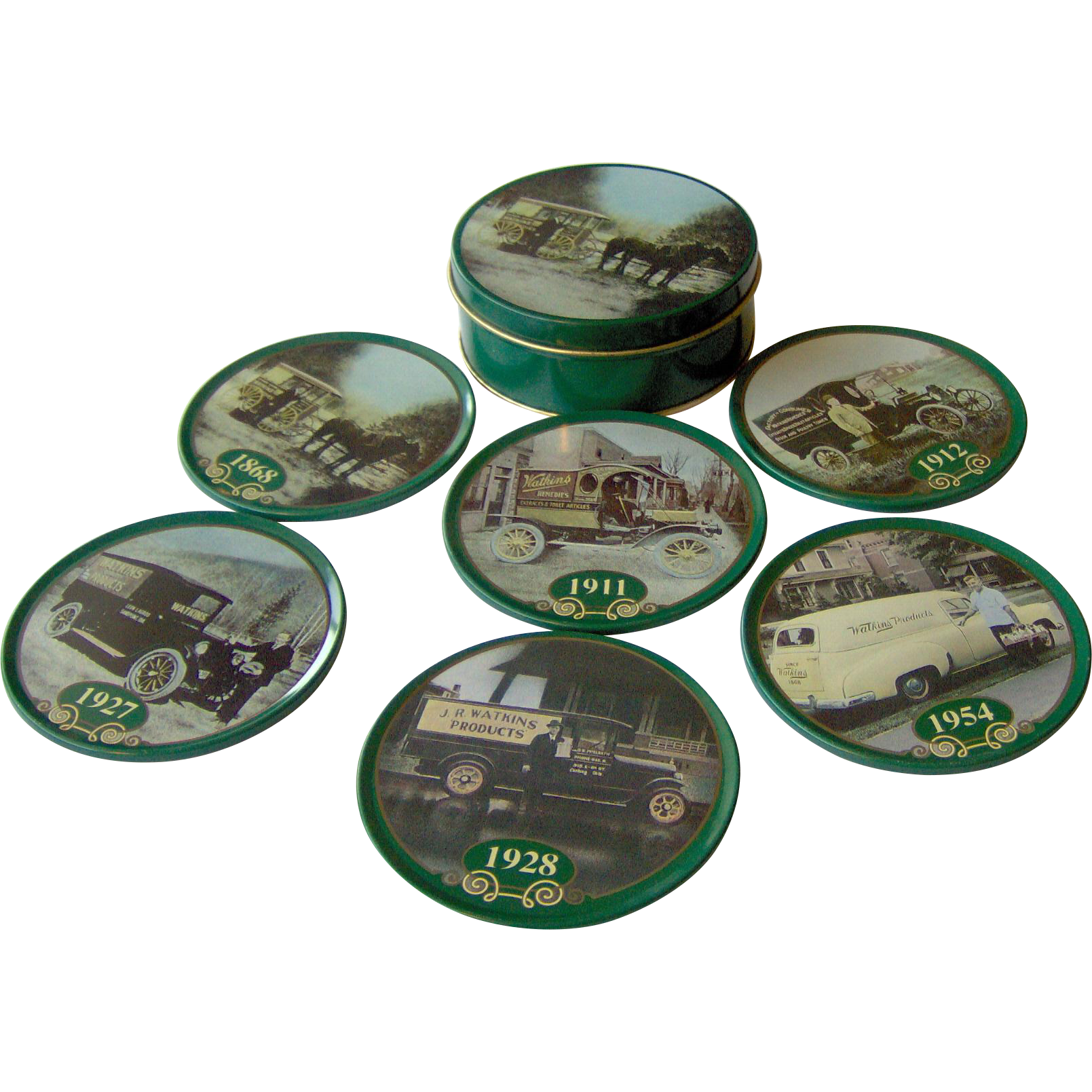 Vintage Watkins 125th Anniversary Coaster Set from 1993