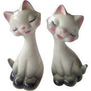 White Cat Salt and Pepper Shakers