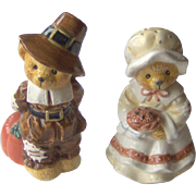 Thanksgiving Pilgrim Salt & Pepper Shakers