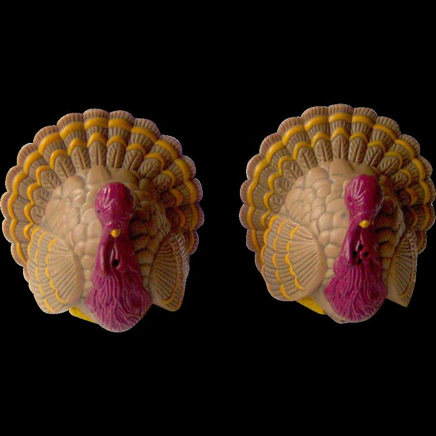 Vintage Thanksgiving Turkey Salt & Pepper Shakers