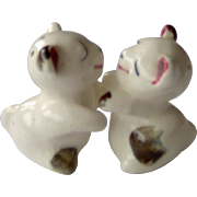 Vintage Hugging Kissing Bears Salt and Pepper Shakers