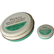 Watkins Medicated Ointment Tins