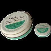 Watkins Medicated Ointment Tins
