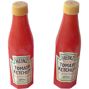 Heinz Tomato Ketchup advertising salt and pepper shaker set
