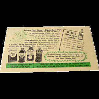 Watkins Salesman Postcard featuring Watkins products and information