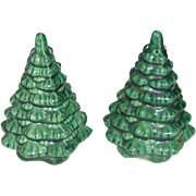 Vintage Christmas Tree Salt and Pepper Shakers