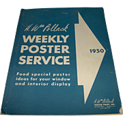 Vintage 1950 Weekly Poster Service book
