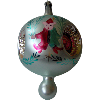 Vintage Large Pair of Elf ornaments from Poland