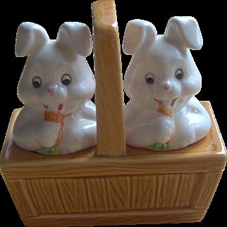 Basket of Bunnies Salt and Pepper Shakers