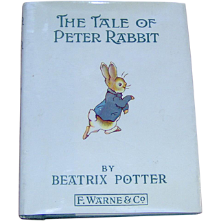 Vintage Childrens Book The Tale of Peter Rabbit by Beatrix Potter
