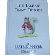 Vintage Childrens Book The Tale Of Timmy Tiptoes by Beatrix Potter