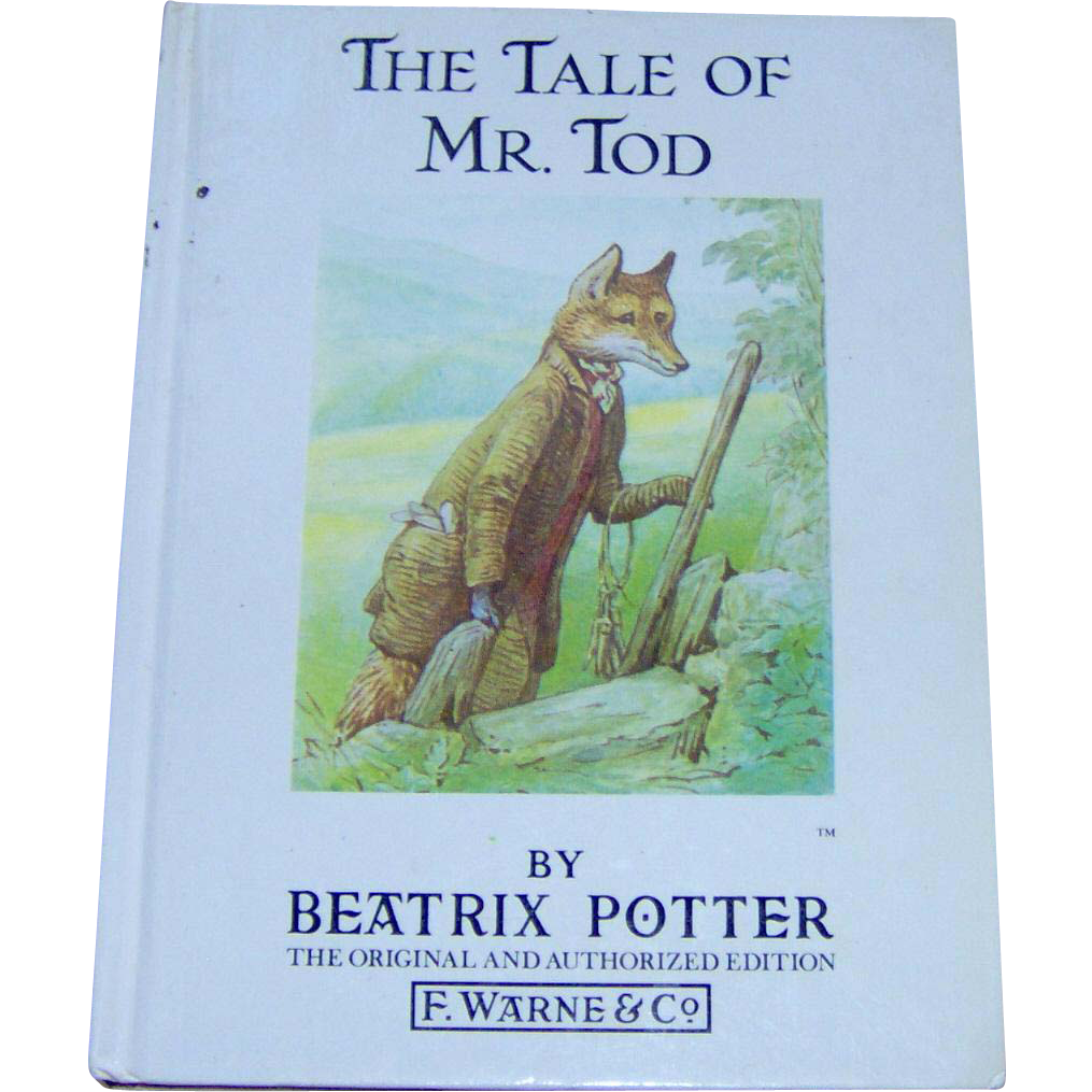 Vintage Childrens Book The Tale of Mr Tod by Beatrix Potter