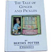 Vintage Childrens Book The Tale of Ginger and Pickles by Beatrix Potter