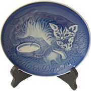 Vintage Bing and Grondahl Mother's Day Cat Plate 1971