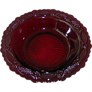 Vintage Avon Cape Cod Ruby Red Soup Cereal Bowl
