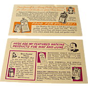 Watkins Salesman Postcards