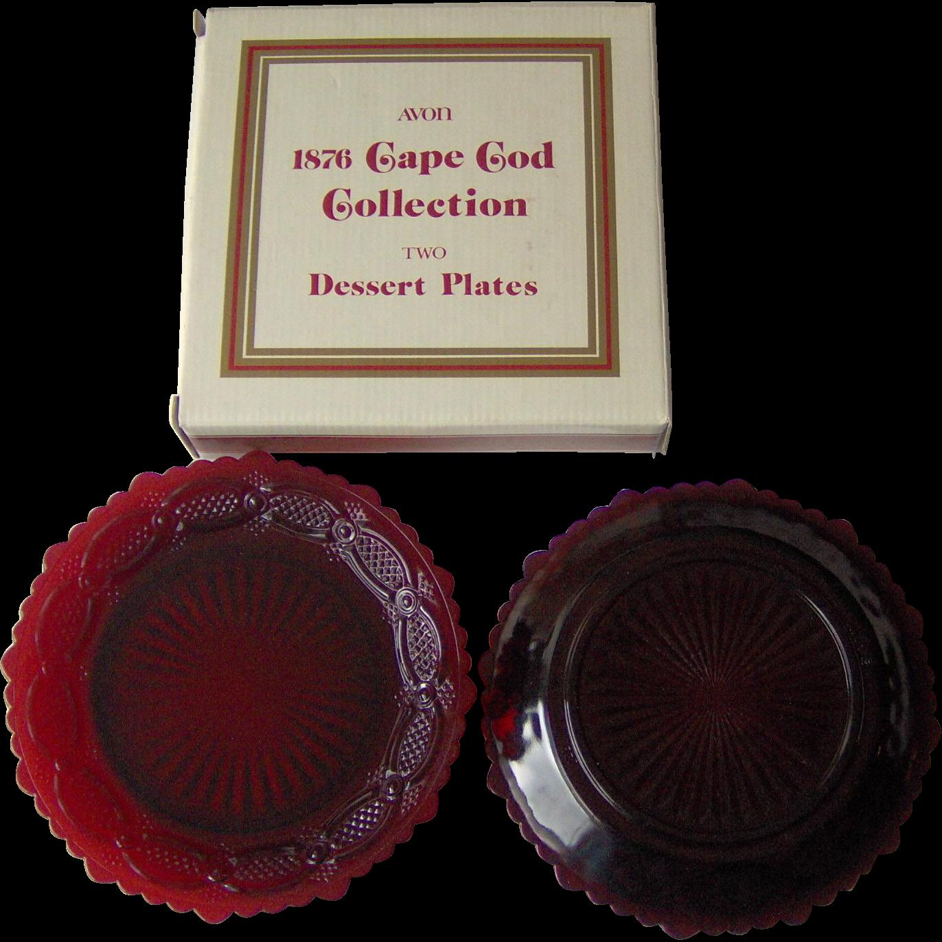 Vintage Avon Cape Cod Dessert Plates