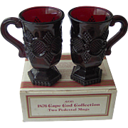 Vintage Avon Cape Cod Pedestal Mugs