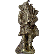 Vintage Bagpiper Door Knocker