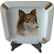 Vintage Collie Dog Ashtray