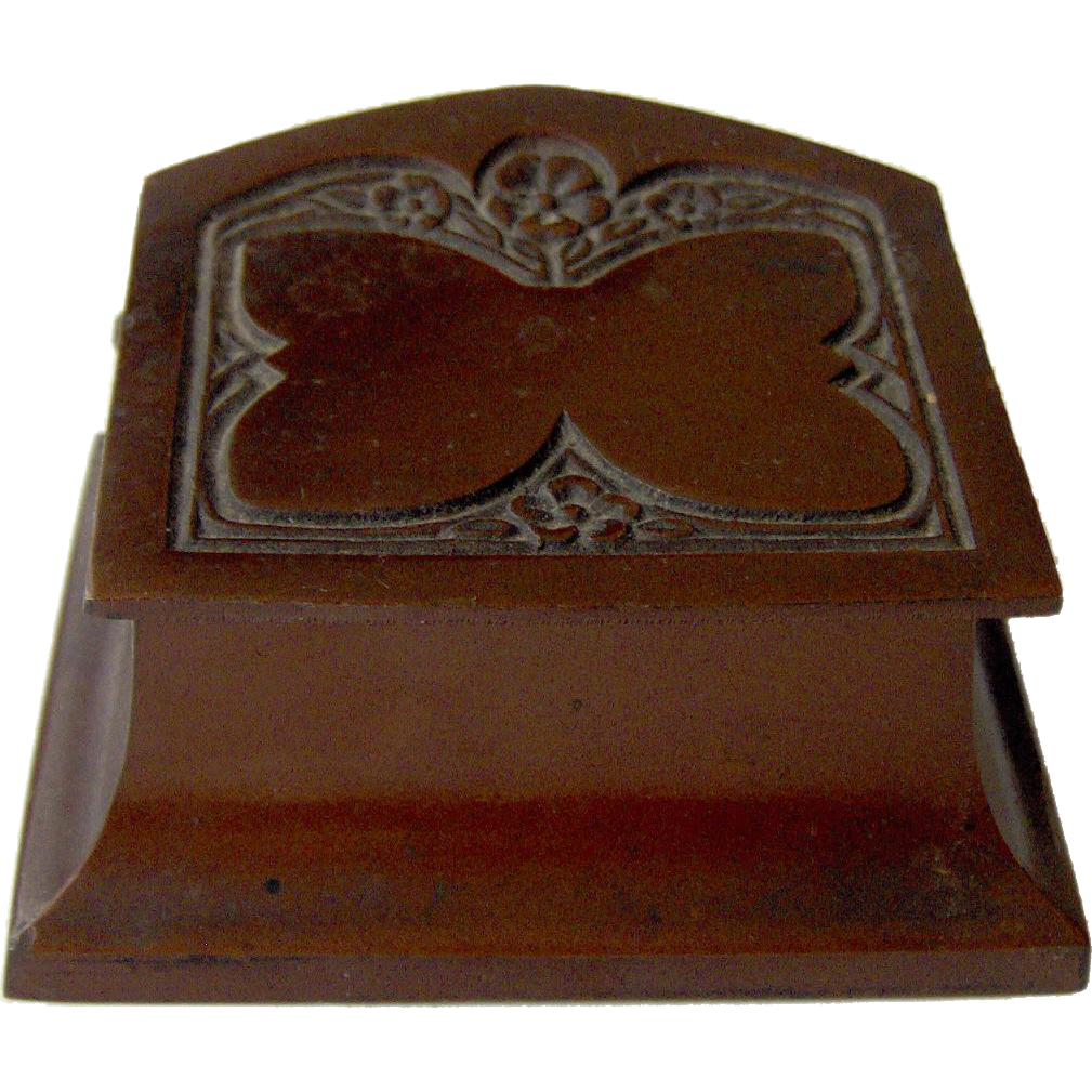 Vintage Bronze Double Stamp Box