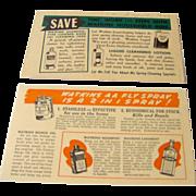 Vintage Watkins Salesman Postcards