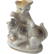 Vintage Playful Cats Figurine