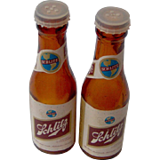 Vintage Schlitz Salt and Pepper Shakers