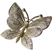 Vintage Butterfly Brooch signed BSK