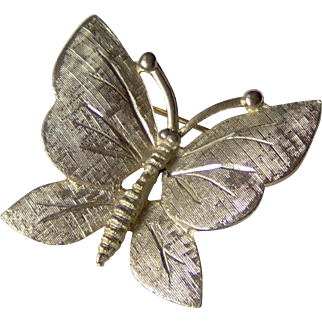 Vintage Butterfly Brooch signed BSK