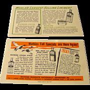 Vintage Watkins Salesman postcard featuring Watkins products