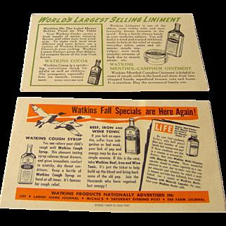 Watkins Salesman postcard featuring Watkins products