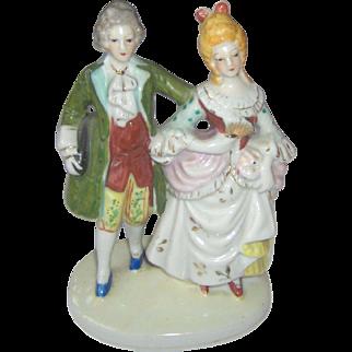 Vintage Occupied Japan Colonial Couple Figurine
