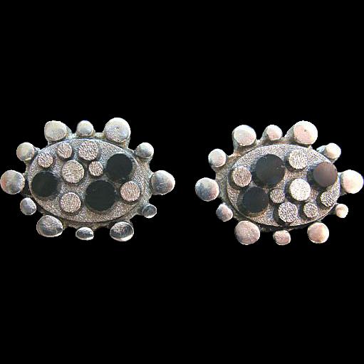 Silvertone Mid Century Modern ATOMIC Cufflinks