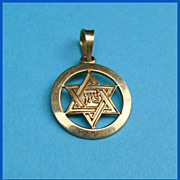 14K Gold Jewish Star of David Charm Pendant