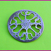 Mid Century Modernist Silver AMOEBA Brooch Pin