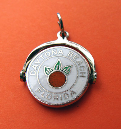 Sterling Enamel DAYTONA BEACH Florida Spinner Charm