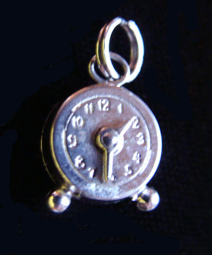 Vintage Sterling Miniature Wind Up CLOCK Charm Big Ben