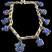 WW2 Gold Filled Enamel FORT BRAGG Sweetheart Bracelet - Red Tag Sale Item