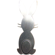 1950's BEAUCRAFT Sterling Modernist BUNNY Rabbit Pin