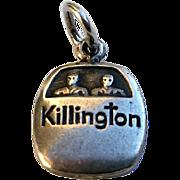 Vintage Sterling KILLINGTON Vt Ski Lift Gondola Charm