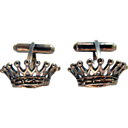 For Your ROYAL Mid Century Silver CROWN Cufflinks