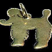 UNIQUE 14K Gold Poodle Dog Charm Pendant