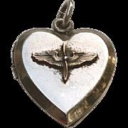 WW2 Sterling PILOT Wings Propeller SWEETHEART Locket