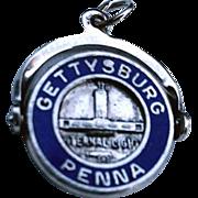 Sterling Enamel GETTYSBURG Pa. Spinner Charm