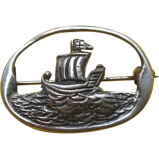 Robert Allison Scotland Sterling SHIP on Water Pin