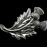 Large DANECRAFT Sterling Scottish Thistle Pin